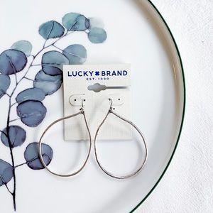Lucky Brand Water Drop Earrings Silver